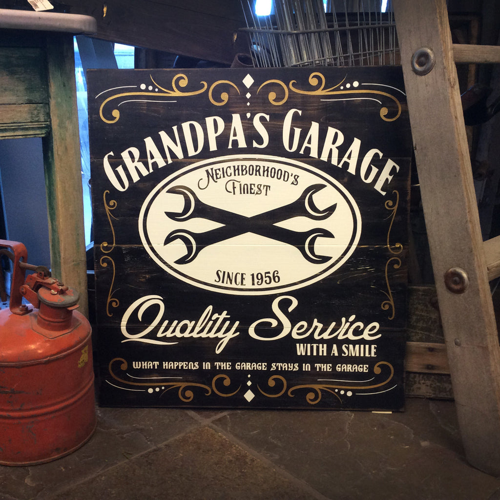 Grandpas Garage (Can be personalized)