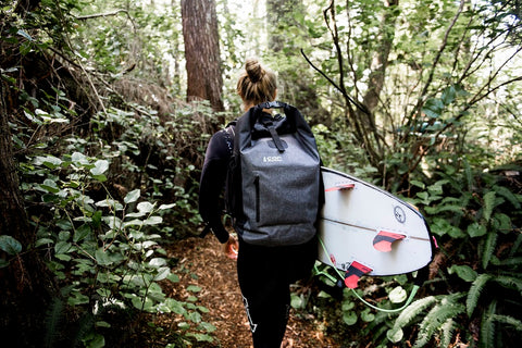Paige Alms Exploring Canada in Her Excursion Backpack