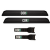Aero Car Rack Pad and 10' Scratch Resistant Silicone Tie Down Strap Combo Pack - Small