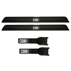 Aero Car Rack Pad and 10' Scratch Resistant Silicone Tie Down Strap Combo Pack (for Flat/Narrow Cross-bars)