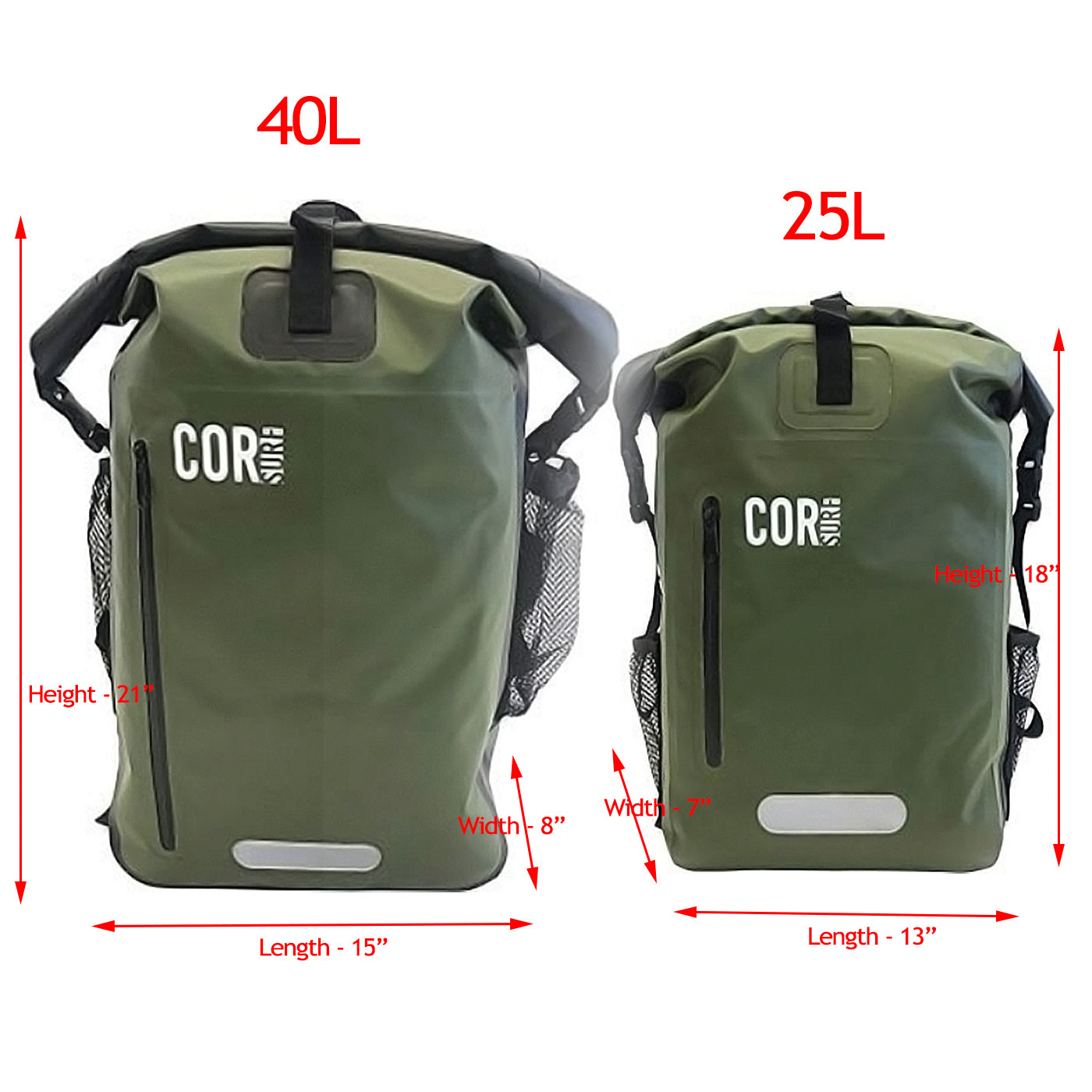 40L Waterproof Dry Backpack