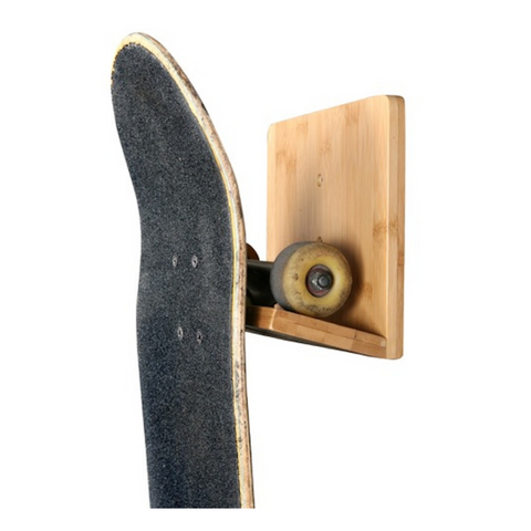 Skateboard Wall Rack- Bamboo or Black
