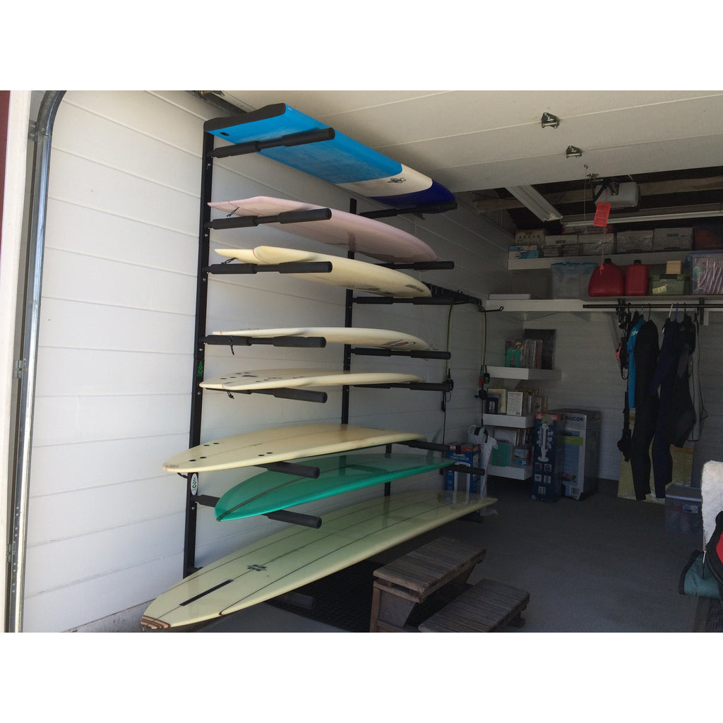 ... Double SUP u0026 Longboard Wall Storage Rack ... & Double SUP / Long Board Rack - Heavy Duty Wall Storage Rack u2013 COR Surf