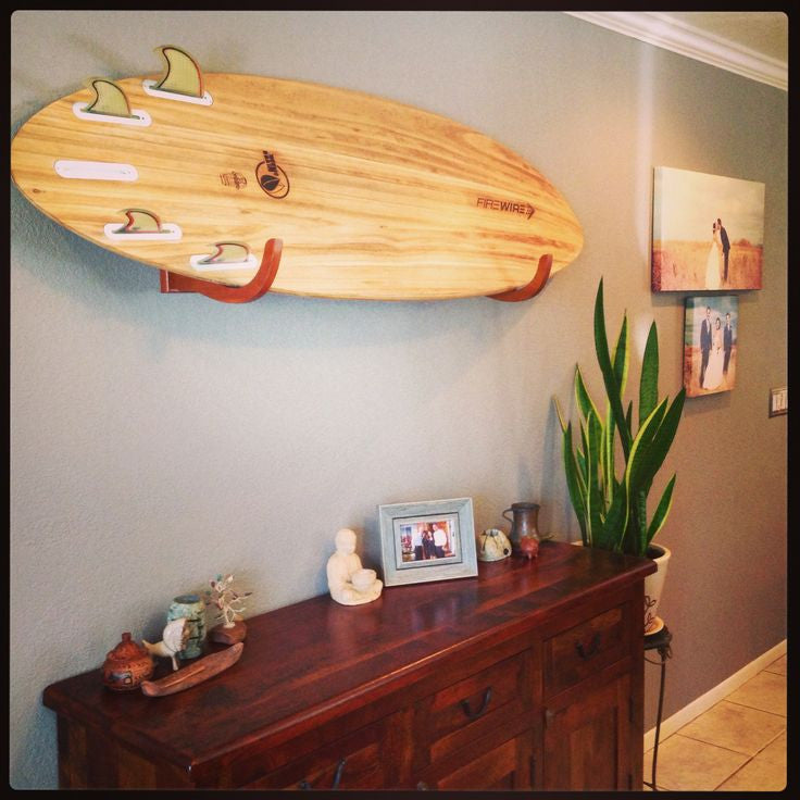 Single Wood Surfboard Display Rack by COR Board Racks Great for Longboards and Shortboards