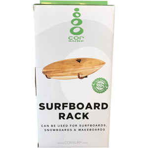 Single Surfboard Wooden Wall Rack
