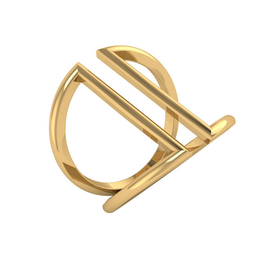 Open Triangle Gold Ring