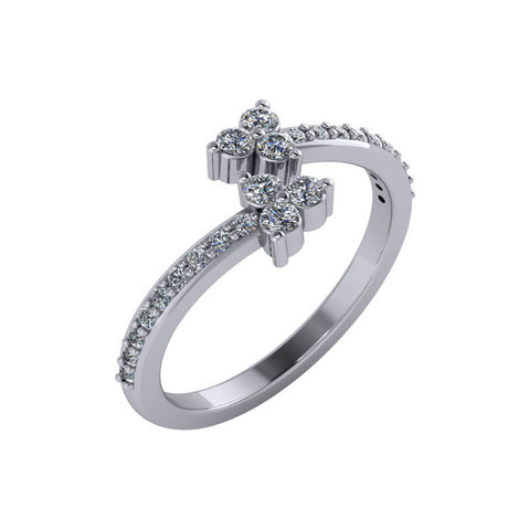 Diamond Trio Twist Ring