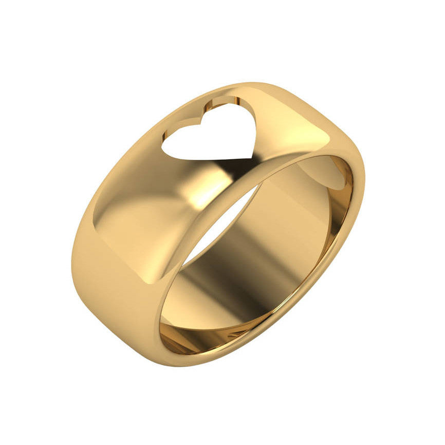 Heart Cutout Gold Band