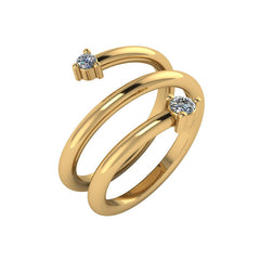 Prong Diamond Wrap Ring