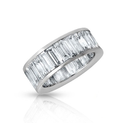 Jumbo Baguette Eternity Wedding Band