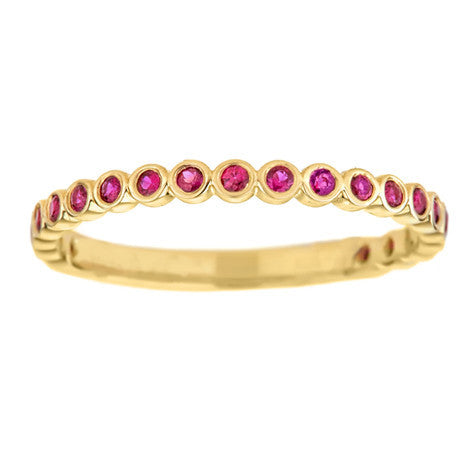 Birthstone Bezel Stack Band