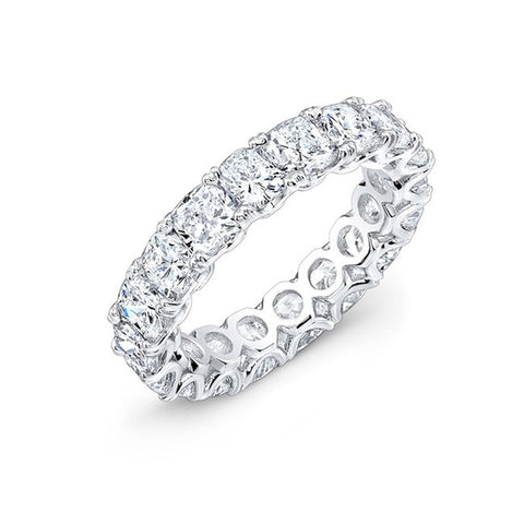 CUSHION CUT ETERNITY BAND