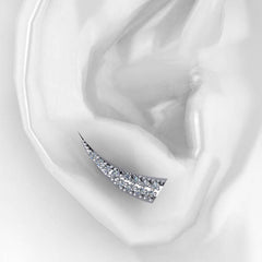 Diamond Tusk Ear Climber