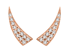 Rose Gold Diamond Tusk Ear Climber