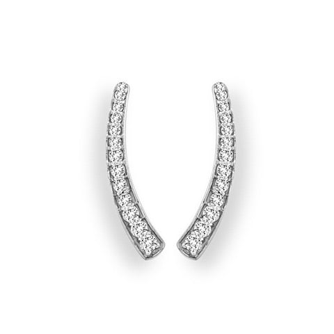 Horn Diamond Ear Climber