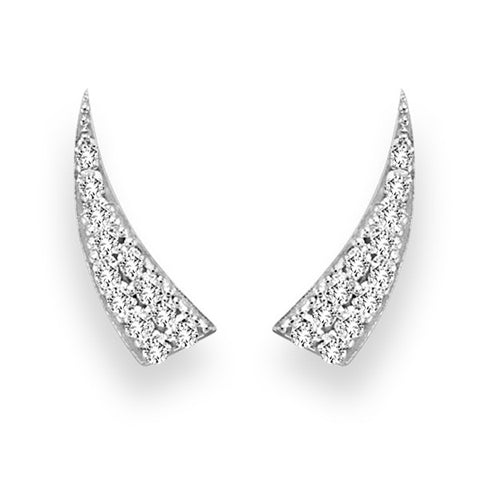 White Gold Diamond Tusk Ear Climber