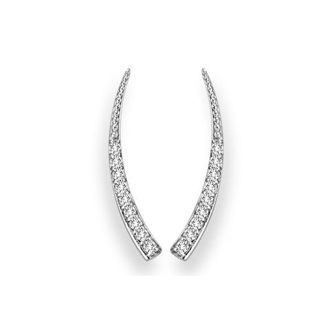 Pave Diamond Horn Ear Climber