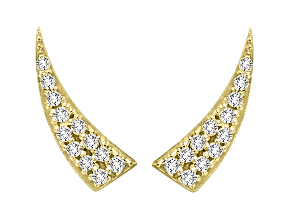 Yellow Gold Diamond Tusk Ear Climber