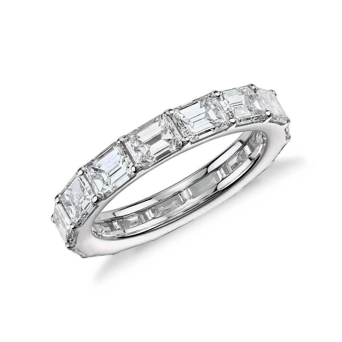 Emerald Cut Horizontal Eternity Wedding Band