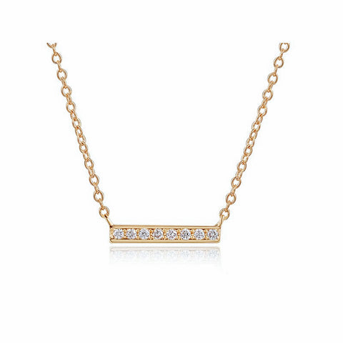 Diamond Short Bar Necklace
