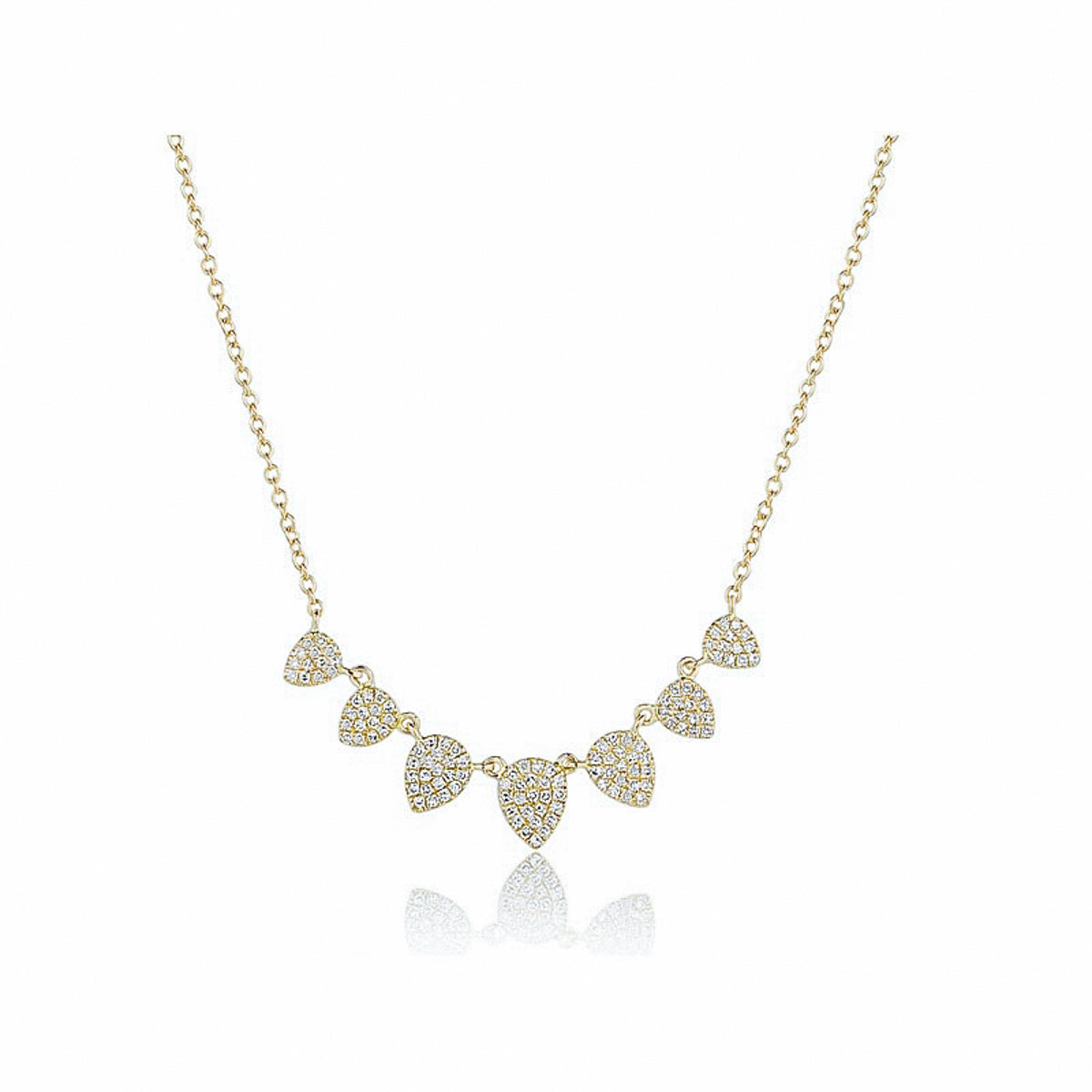 Pear Fringe Pave Diamond Necklace