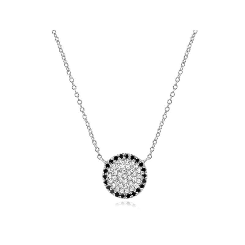 Black and White Disc Necklace