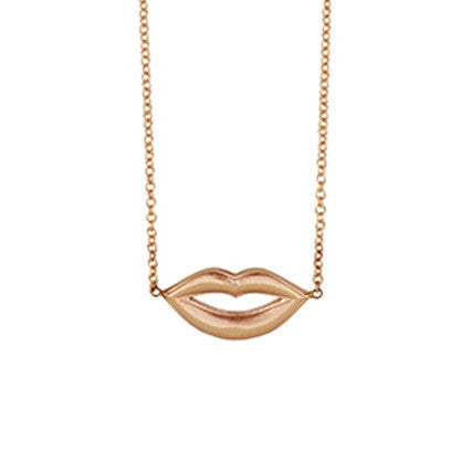 Pucker Up Gold Necklace
