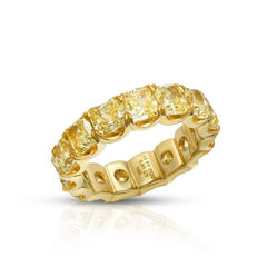 RADIANT FANCY YELLOW DIAMOND ETERNITY BAND