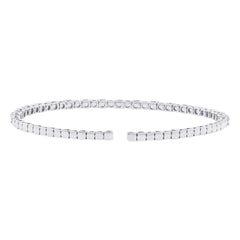 Flexible Diamond Cuff in White Gold