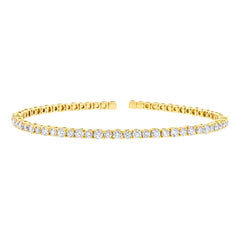 Flexible Diamond Cuff in Yellow Gold