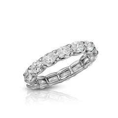 Sideways Oval Eternity Band