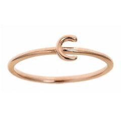 Rose Gold Lower Case Initial Band