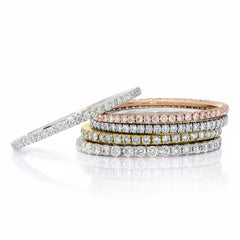 Diamond Eternity Pave Stack Band
