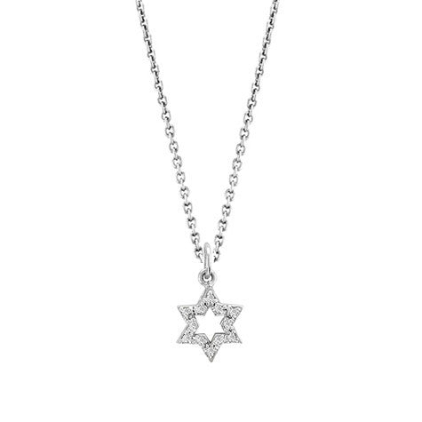 Mini Pave Jewish Star Charm