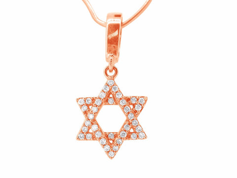 Jewish Star of David Pendant Rose Gold