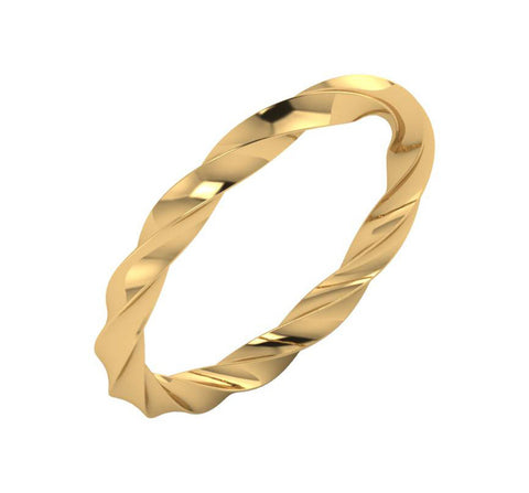 Stackable Twisted Bar Ring