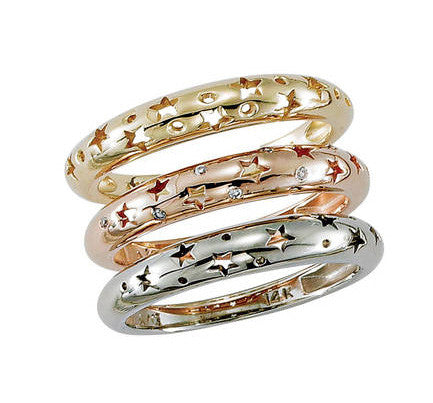 Stackable Sparkling Star Diamond Band