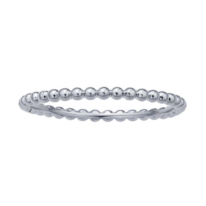 Stackable Eternity Beaded Ring