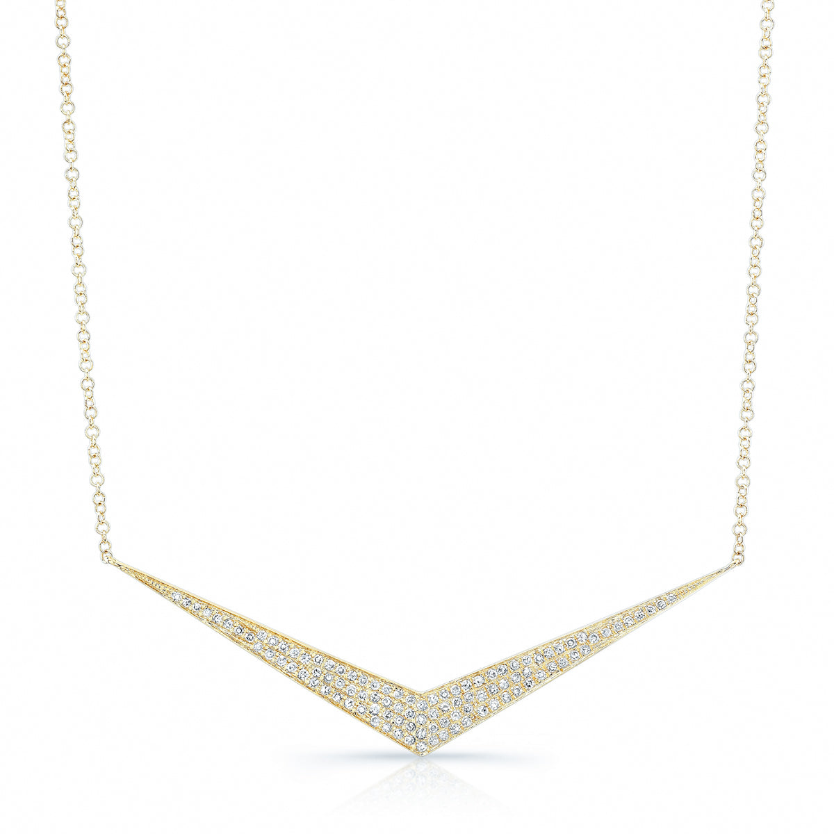 Pave Chevron Necklace