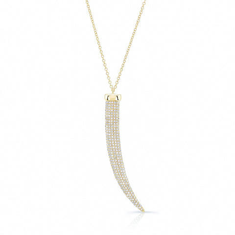 Diamond French Horn Necklace