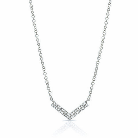 Diamond Double Chevron Necklace