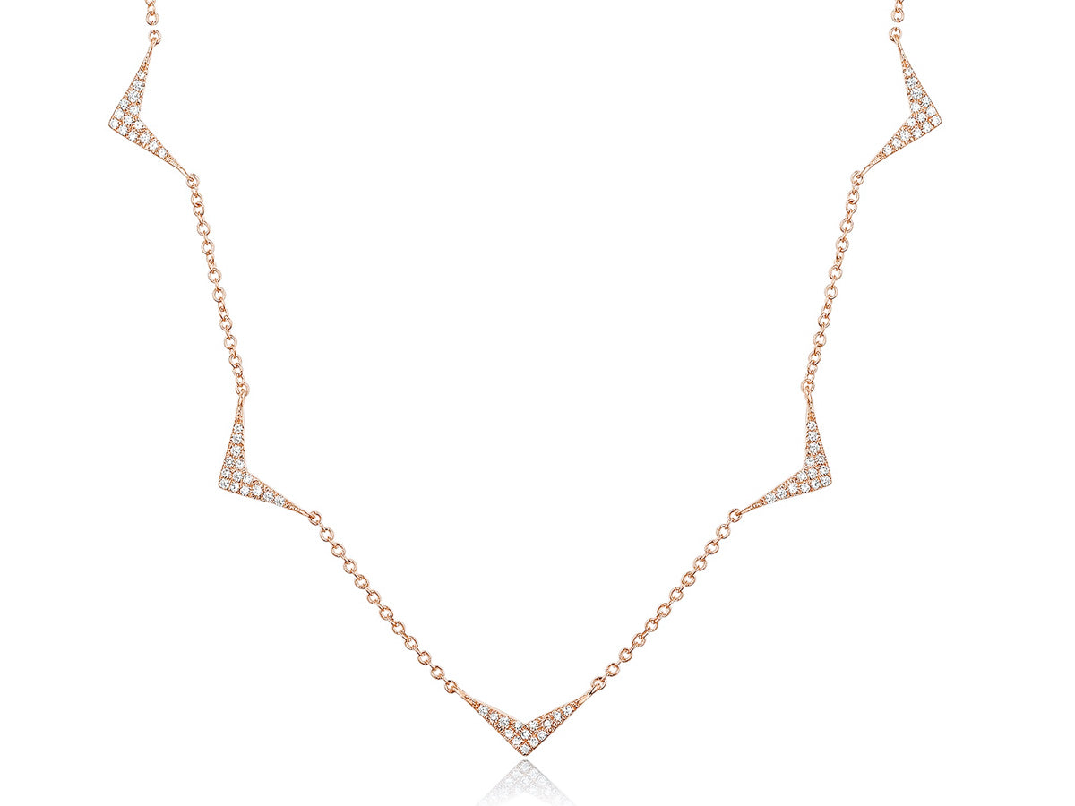 Chevron Station Chain Necklace