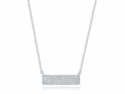Pave Brick Necklace