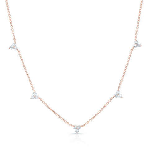 Diamond 5 Trio Station Necklace