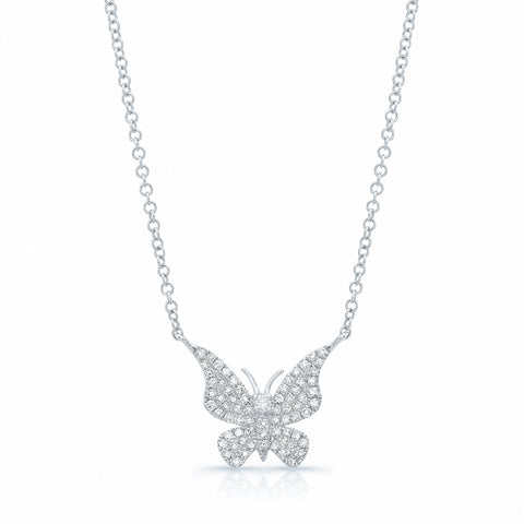 Medium Diamond Butterfly Necklace