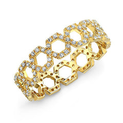 Open Hexagon Eternity Band