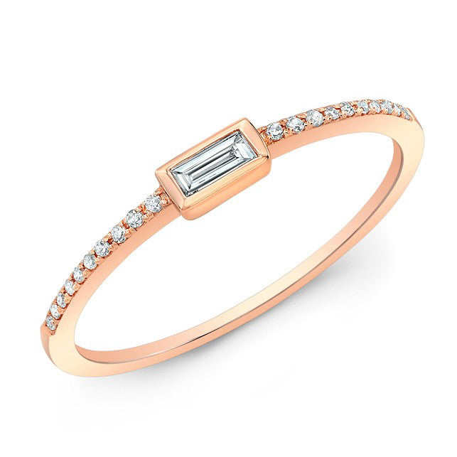 Baguette Bar Diamond Ring