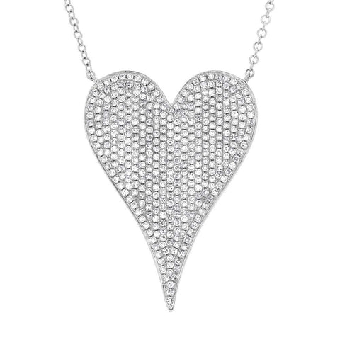 Essential Jumbo Pave Heart Necklace