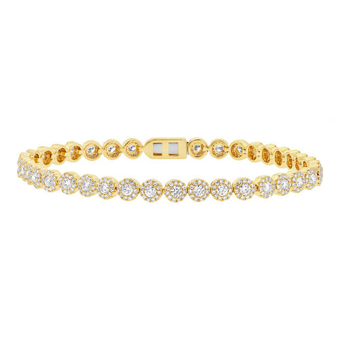 Yellow Gold Eden Tennis Bracelet