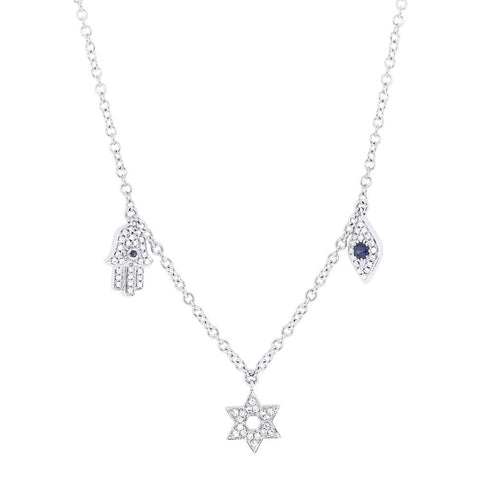 Evil Eye, Hamsa and Star Necklace